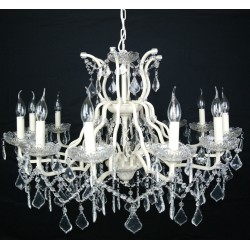 Cream 8 branch shallow cut glass chandelier cream 12 branch shallow cut glass chandelier aloadofball Choice Image